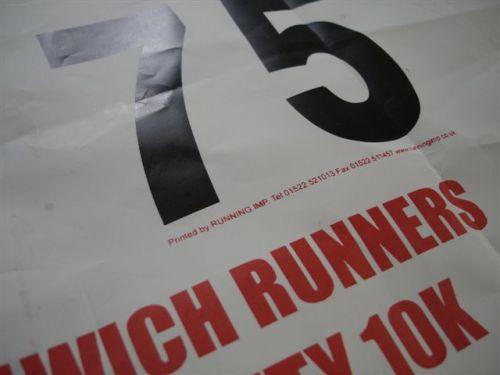 10k Race Bib